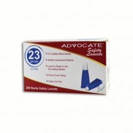 Advocate Safety Lancets 23G x 2.2mm- 200ct box