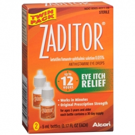 Zaditor Eye Itch Relief Drops- 0.17oz (2 PACK)