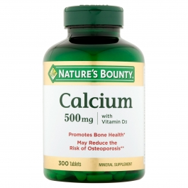 Nature's Bounty Calcium 500mg with Vitamin D3, Tablets 300ct