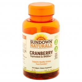 Sundown Super Cranberry Plus Vitamin D3 1000 IU Softgels, 8400 mg, 150ct