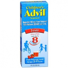 Children's Advil Ibuprofen Fever Reducer/Pain Reliever Oral Suspension, Fruit Flavor - 4 oz
