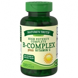 Nature's Truth Timed Release High Potency B-Complex Plus Vitamin C, 100ct