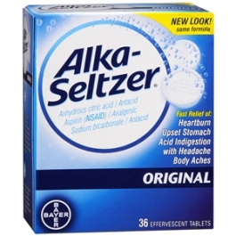 Alka-Seltzer Effervescent Tablets, Original - 36ct