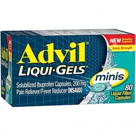 Advil Liqui-gel Minis Pain Reliever & Fever Reducer - 80ct