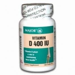 Major Vitamin D 400 IU Tablets 100ct