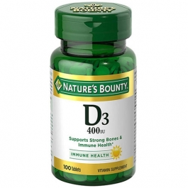 Nature's Bounty D3-400 IU, Tablets, 100ct