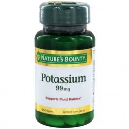 Nature's Bounty Potassium Gluconate Caplets 100ct