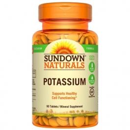 Sundown Naturals Multi-Source Potassium Tablets, 90ct