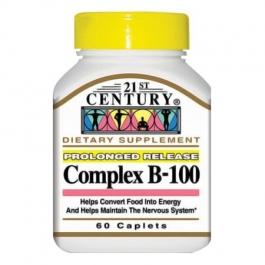21st Century Complex B-100 Prolonged Release Caplets, 60 Ct