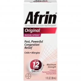 Afrin Original Nasal Spray, 1 Fl Oz