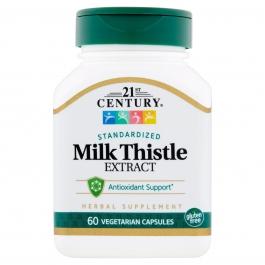 21St Century Milk Thistles Extract Vegetarian Capsules 60 ct