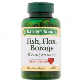 Nature's Bounty - Fish Flax Borage 1200mg 72 Softgels