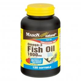Mason Natural Fish Oil 1000 Mg Omega-3 Softgels - 120ct