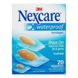 Nexcare Bandages Waterproof Clear Assorted Sizes - 20ct