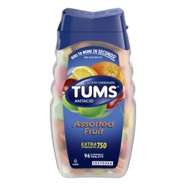 Tums E-X Extra Strength Antacid/Calcium Supplement, Assorted, 96ct