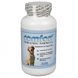 Comfort Geriatric Formula Antioxidant Supplement for Dogs and Cats, 100 Tablets