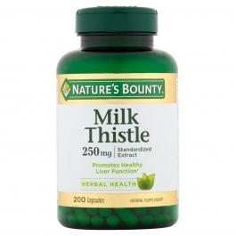 Nature's Bounty Milk Thistle Natural 250mg Capsules 200ct