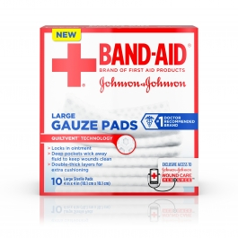 Band-aid First Aid Large Gauze Pad, 4x4 Inch 10ct