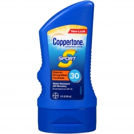 Coppertone Sport Sunscreen Lotion, SPF 30, 3 fl oz