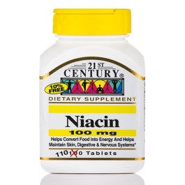 21st Century Niacin Tablets, 100 Mg, 110ct