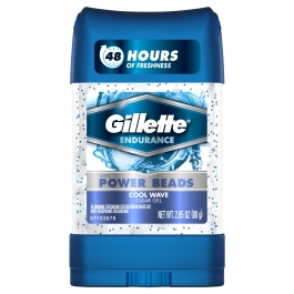 Gillette 3X Protection Anti-Perspirant/Deodorant Power Beads Clear Gel Cool Wave 3 oz