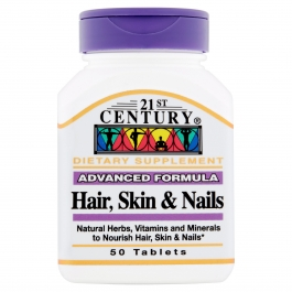 21st Century Advanced Formula Hair, Skin & Nails, 50 caplets