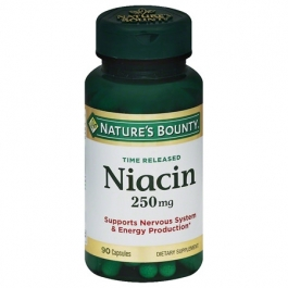 Nature's Bounty Time Released Capsules Niacin 250mg 90ct