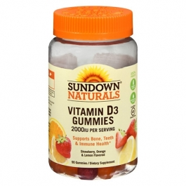 Sundown Naturals Vitamin D3 2000IU Gummies 90ct
