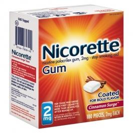 Nicorette Gum 2mg Cinnamon Surge - 100ct Box