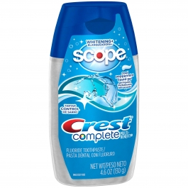 Crest Whitening Plus Scope Toothpaste Liquid Gel Cool Peppermint 4.6 oz