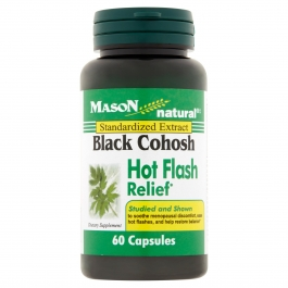 Mason Natural Black Cohosh 40 Mg Hot Flash Relief Capsules - 60 ct