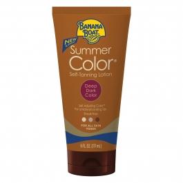 Banana Boat Summer Color Self-Tanning Lotion, Deep Dark - 6oz Tube