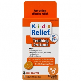 Homeolab USA Kids Relief Teething Orange Flavor 0.85 fl oz