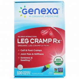 Genexa Organic Leg Cramp Tablets for Calf, Leg & Foot Cramps, 100 Ct