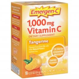 Emergen-C Vitamin C Fizzy Drink Mix Tangerine 1000 mg - 10 Packets