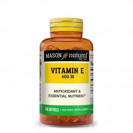 Mason Natural Vitamin E 400 IU Dietary Supplement Softgels - 100ct
