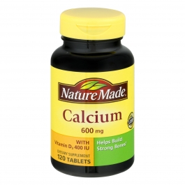 Nature Made Calcium with Vitamin D3 600 mg 120 Tablets