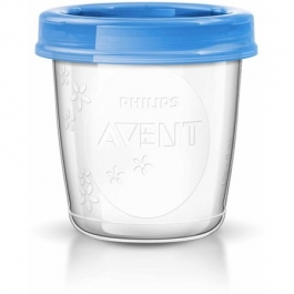 Philips Avent 6oz Breast Milk Storage Cups - 10 Pack ** Extended Lead Time **