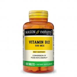 Mason Naturals Vitamin B-12 500 Mcg Tablets - 100ct