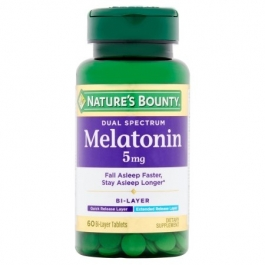 Natures Bounty Dual Spectrum Melatonin 5mg Bi-layer Tablets - 60ct