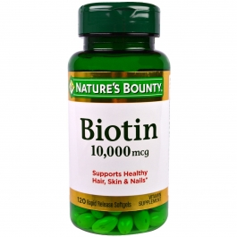 Nature's Bounty Ultra Strength Biotin Softgels, 10,000mcg, 120ct