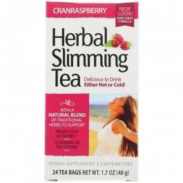 21St Century Herbal Slimming Cranraspberry Tea - 24 ct