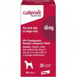 Galliprant (Grapiprant) 60mg Flavored Tablets for Dogs- 30ct