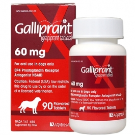 Galliprant (Grapiprant) Flavored Tablets for Dogs 60mg- 90ct