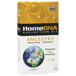 DDC Home DNA Collection Kit Ancestry Analysis + Report