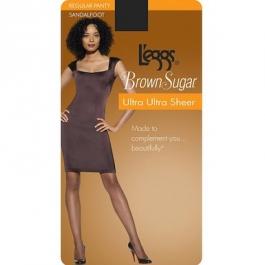 L'eggs Brown Sugar Ultra Ultra Sheer Panty Hose, Extra Large, Jet Black