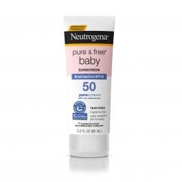 Neutrogena Pure & Free Baby Sunscreen, SPF 50, 3.0 fl oz