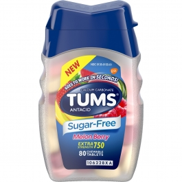 Tums Sugar Free Melon Berry Chewable Acid Reducers - 80ct
