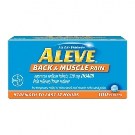 Aleve Back & Muscle Pain Tablet, Pain Reliever/Fever Reducer - 100ct
