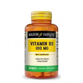 Mason Natural Vitamin B-2 100 mg 100 Tablets